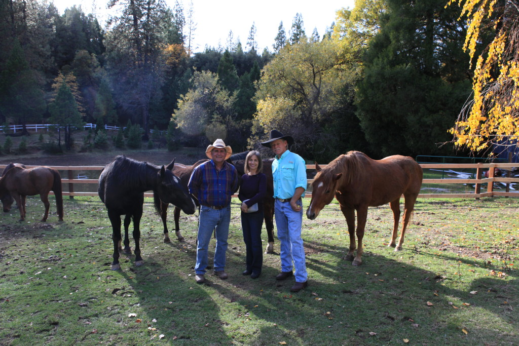 Red Moon Ranch Staff (from left): Skip Bertuzzi, Ginny Cutler, Doug McIntosh